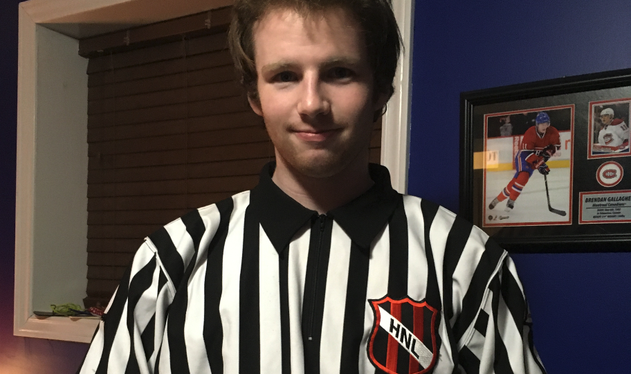 Hockey NL Would Like to Congratulate & Recognize, Liam Picco – Official of the Month, December 2020